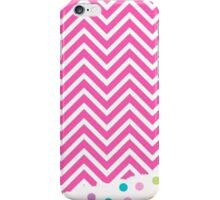 Polka Dots Zigzag Pink iPhone Case/Skin