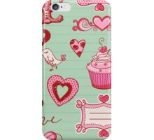 Cupcake Love Heart iPhone Case/Skin