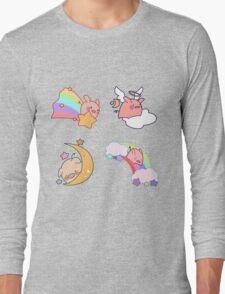 Four Rainbow Moon Pigs Long Sleeve T-Shirt