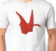 Red Origami Crane Unisex T-Shirt