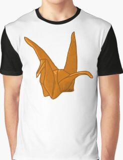Orange Origami Crane Graphic T-Shirt