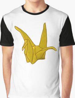 Yellow Origami Crane Graphic T-Shirt