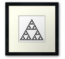 Sierpinski Triangle Fractal Math Art Framed Print