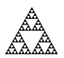 Sierpinski Triangle Fractal Math Art Photographic Print