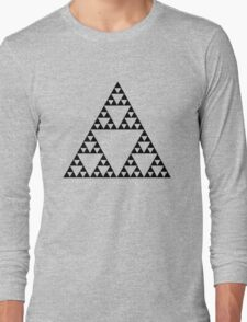 Sierpinski Triangle Fractal Math Art Long Sleeve T-Shirt