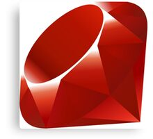 Ruby logo Canvas Print