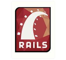 Ruby on Rails logo Art Print