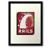 Ruby on Rails logo Framed Print
