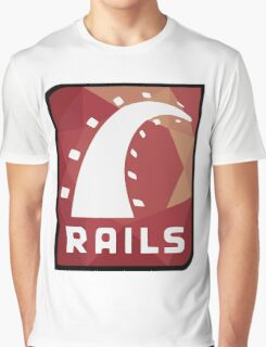 Ruby on Rails logo Graphic T-Shirt