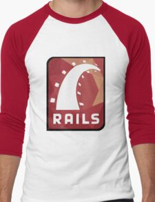 Ruby on Rails logo Men's Baseball ¾ T-Shirt