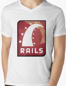 Ruby on Rails logo Mens V-Neck T-Shirt