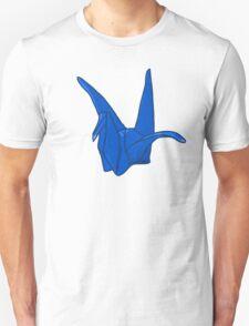Blue Origami Crane Unisex T-Shirt