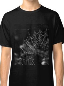 Spider web with rain drops Classic T-Shirt