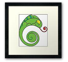 Cute chameleon Framed Print