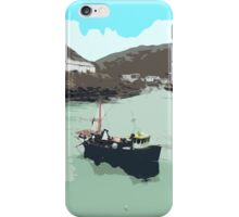 Boscastle (Cornwall) - Harbour - digital painting iPhone Case/Skin