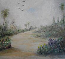 Tropical Garden Path by rokinronda