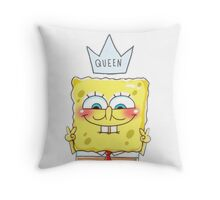 Queen SpongeBob Throw Pillow