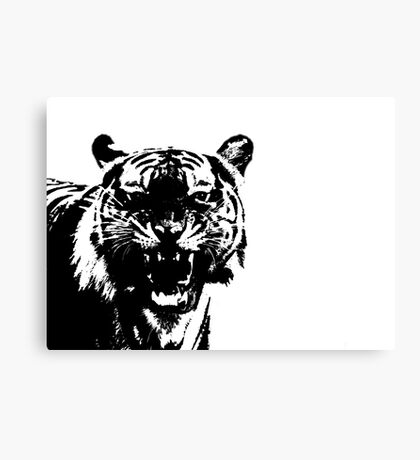 Monochrome Tiger Canvas Print