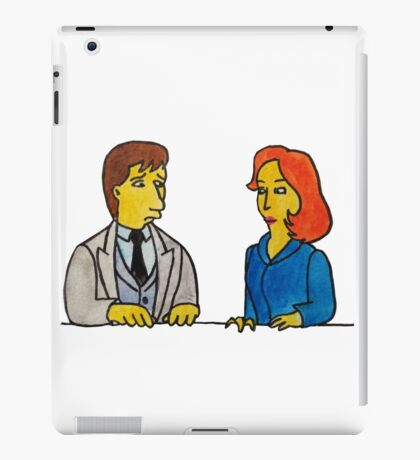 Simpsons Style Mulder and Scully - X Files iPad Case/Skin
