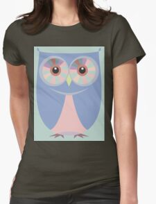 A BLUE OWL Womens Fitted T-Shirt