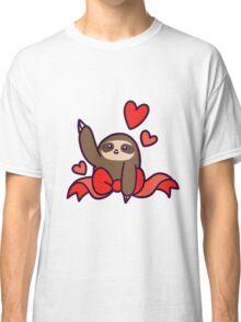 Ribbon Heart Sloth Classic T-Shirt