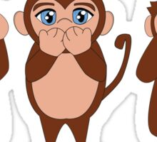 The Wise Monkeys Sticker
