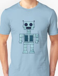 Retro Blue Robot T-Shirt