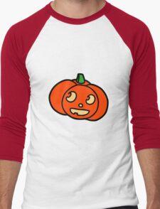 Cute Halloween Pumpkin Men's Baseball ¾ T-Shirt