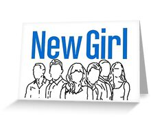 New Girl Outline with Logo Greeting Card