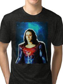 Nic Cage - Superman (Space) Tri-blend T-Shirt