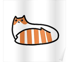 Striped Tail Kitty Poster