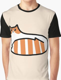 Striped Tail Kitty Graphic T-Shirt