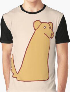 Golden Retriever Blob Graphic T-Shirt