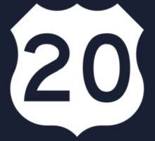 US Route 20 Sign, USA One Piece - Short Sleeve
