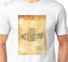 Patent Image - Airplane - Ancient Canvas Unisex T-Shirt