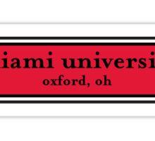 Miami University Vineyard Sticker