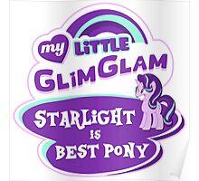 Starlight Glimmer - Logo - Best Pony Poster