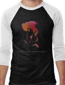 Cowboy Bebop - Spike Spiegel - A Cowboy Never Dies Men's Baseball ¾ T-Shirt