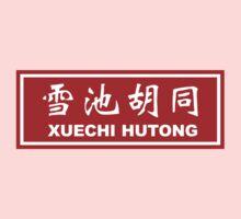 Xuechi Hutong, Street Sign, Beijing, China Kids Tee