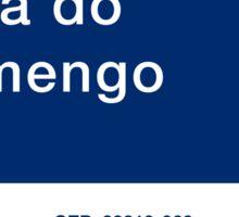 Praia do Flamengo, Street Sign, Rio de Janeiro, Brazil Sticker