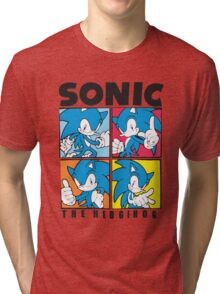 Sonic The Hedgehog 4 in 1 Tri-blend T-Shirt