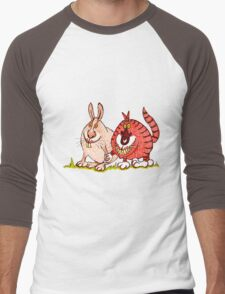 Close encounters of the weird kind: easterbunny's secret life Men's Baseball ¾ T-Shirt
