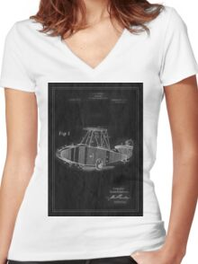 TIR-Airplane - Inverted Women's Fitted V-Neck T-Shirt