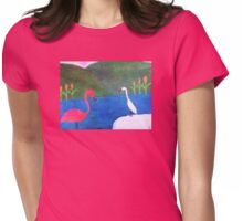 Birds at the Beach Womens Fitted T-Shirt