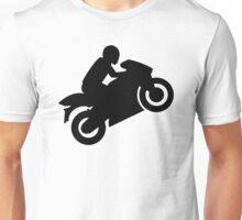 Motorcycle wheelie Unisex T-Shirt