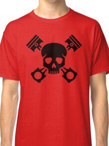 Crossed pistons skull Classic T-Shirt