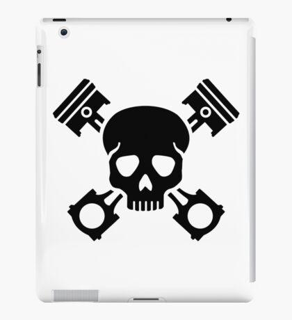 Crossed pistons skull iPad Case/Skin