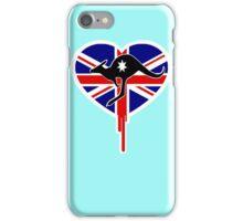 AUSSIE KANGO FLAG BLEEDING HEART iPhone Case/Skin
