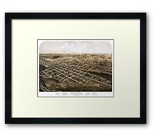 Birds eye view of the city of Coldwater, Michigan - 1868 Framed Print
