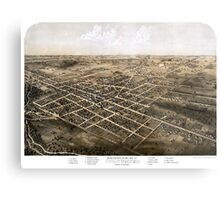 Birds eye view of the city of Coldwater, Michigan - 1868 Metal Print